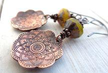 Copper/Metal Earrings / by Marsha Sheriff