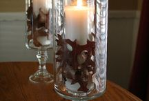 Candle holders & candles / by Donna Rainwater