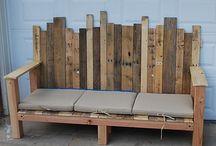 Garden - pallets & fence boards reused / by Inez Gerlock