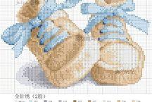 Haft krzyzykowy (dzieci) / Cross stitching (kids) / by Anna Kopczynska