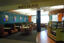 Ace's Place Cafe / Sandwiches, salads, coffee, etc. in the 1st floor of the Library! Come study and eat! / by Stonehill College MacPhaidin Library