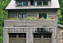 garage doors / by Primitive Folk Artist Sue Corlett
