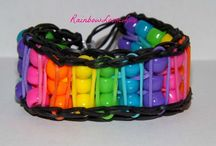 Rainbow Loom - for Serena (and me lol) / The new mad craze of rainbow looms  / by Caroline Bean