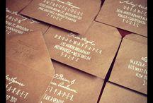 Addressing Envelopes  / by Rebecca Crisler