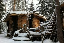 cabin in the woods / by winterwind farm - ROUBAIX WOOL