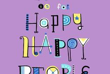 Hand Lettering / Hand lettering from the artists in the Happy Happy Art Collective / by happy happy art collective