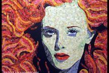 ART/PAPER SANDHI SCHIMMEL / just stunning art, and I can get inspired for a quilt / by Dorte Rasmussen.Denmark