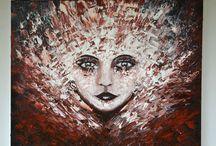 My Oil on Canvas Palette Knife Paintings / by Artist | Nico van der Merwe