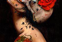 Skulls / Art I like & Sugar Skulls / by Stacy Cherry