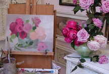 "Plein air Painting and Still Life / by Christie Repasy Designs~ ""Chateau de Fleurs"""