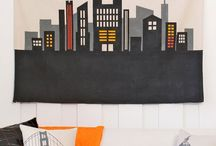 Cityscape room ideas / by Mary Barry