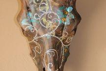 Longhorn Skull Art / by Cary Martin Sullivan