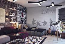 Jack's Basement Bedroom / by Alison Cote