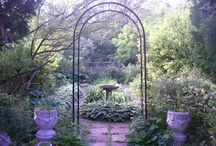 my  garden... / strict  layout  with  rambunctious plant life... / by annatgreenoak..