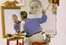 Norman Rockwell / The nation's premier illustrator for more than six decades, Norman Rockwell (1894–1978) was the people's painter, depicting scenes from American life for the covers and pages of the most prominent publications. He will always be my favorite!!! / by Jan Hunsche
