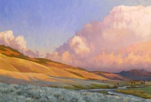 Oil Paintings  By Bruce Park / These are oil paintings of the Montana, Wyoming and Idaho rocky mountains. The paintings reflect the unique luminous light and complex dynamic panoramas of this region. / by Bruce Park Arts