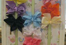 Making bows/ headbands / by Cheryl Himmel