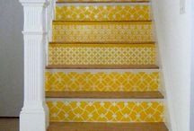decor -- stairs and staircases / stairs, staircases, stairwells, stairways, stair entryways, etc.  / by sonal chokshi