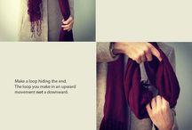 Scarfs. Styles. / by Karen Me