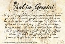 Sol in Gemini - Chap 41 of The Book of Life / This section covers Sol in Gemini - Chapter 41 of The Book of Life by Deborah Harkness. / by Armitage4Clairmont