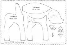 Felty Fantasticals - Patterns for sewn felt. / by *** Briali ***