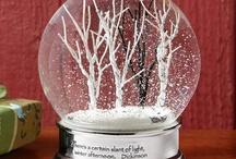 snowglobes / by Alison Shaffer (kitchentable4.com)