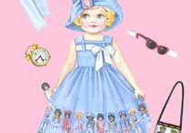 free paper dolls to print / by Jenny B.