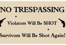 No trespassing Signs / by Wooden Signs Company, LLC