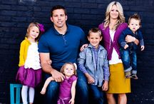 Family Photos / Brandon would like to wear shades of purple, with gray. / by Whitney Saubert