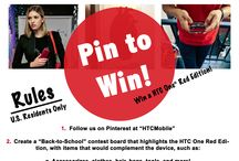 Pin to Win the HTC One Red / Repin for a chance to win your very own HTC Red! Find out how at http://blog.htc.com/2013/09/pin-to-win-the-htc-one-red/ / by HTC Mobile
