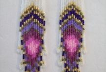 boucles d'oreilles en perles  / by Mystic Nails