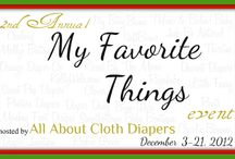 My Favorite Things event 2012 / by All About Cloth Diapers Autumn Beck