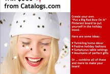 """Catalogs.com 'Put a Big Red Bow On It' Contest / The Catalogs.com """"Put a Big Red Bow On It"""" Pinterest Contest starts 5pm, Thursday, November 21 and runs through Midnight, Sunday, December 15, 2013. The contest winner will be announced noon, Tuesday, December 17, 2013. The winner will be selected by a judges selected by Catalogs.com based on 1. following the contest instructions and 2. creativity. Have fun and get jolly!  / by catalogs"""