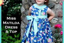 Miss Matilda Dress and Top Pattern from The Cottage Mama / by The Cottage Mama - {Lindsay Wilkes}