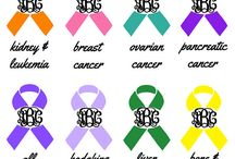 Awareness ribbons for daddy and mama / by Stephanie Weaver