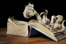 Book Art / We don't recommend trying this with our books. :) Book art is typically done with surgical tools (or even dental floss!) and takes a steady hand! / by Archer Library