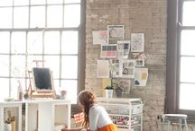 studio spaces / by Elsie Larson of A Beautiful Mess