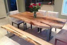 Wood slab furniture / by K W