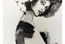 my work / abstract and figurative art by Kiah Denson / by Kiah D