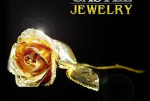 Real Roses Dipped in Gold and Lacquer / by The Castle Jewelry Discounters of Diamonds and Fine Jewelry