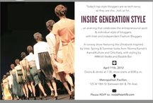 #UltraBookStyle / Today's top style bloggers are as tech-savvy as they are chic. Join us for... Inside Generation Style...an evening that celebrates the entrepreneurial spirt and individual style of bloggers,with Intel and Independent Fashion Bloggers! http://bit.ly/HfO1pK   / by Independent Fashion Bloggers