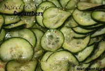 Cucumber Recipes / Yummy Cucumbers / by Sondra Pearson