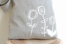 """Impresos caseros, artesanales // hand printing, screen printing / Impresiones hechas de forma artesanal, a mano, en casa, o con métodos """"sencillos"""", con serigrafía, etc. Objetos decorados con este tipo de impresiones / by Maria Tenorio"""