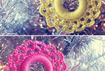 Deco con crochet / Variedad de elementos para decorar,  hechos al crochet / by Patry Mulvihill