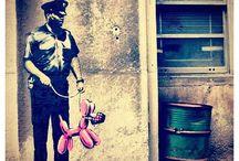 Banksy art / by michael remini