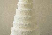 Cakes: White/Ivory Wedding / NOT my work. Just gorgeous cakes I love. / by Sheena House