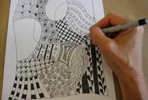 Zentangles / gribouillage zen / by Johanne Mireault