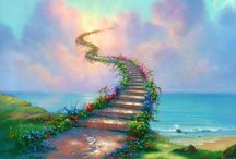 SHE'S BUYING A STAIRWAY TO HEAVEN / We are all on the stairs, my friend; some of us are going down, some us are going up! ― Mehmet Murat ildan  / by Linda Tutt