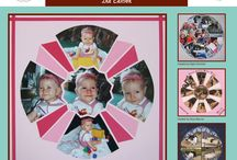 Sunburst Stencil / This Board shows different Photo Collage layouts all using the Sunburst Stencil as the design template. / by Lea France Scrapbooking (Photo Collage)