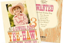 Cowgirl Birthday Party from PearTreeGreetings.com / Your little cowgirl is ready to celebrate her big day. Are you ready to lasso the crew? / by Pear Tree Greetings